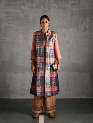 Multicolor Vintage Benarasi Silk Brocade Jacket
