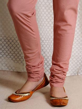 Pink Elasticated-waist Cotton Churidar
