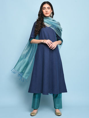 Blue Mangalgiri Cotton Kurta