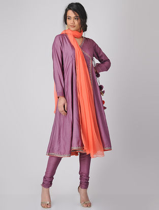 Orange Chiffon Dupatta