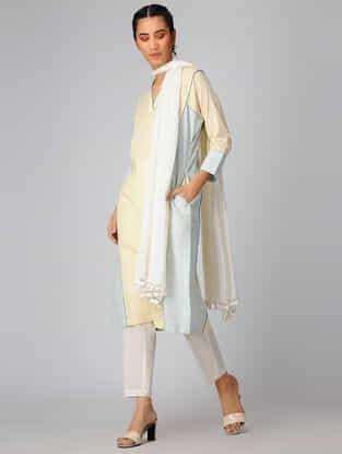 Yellow-Green Cotton Khadi Kurta