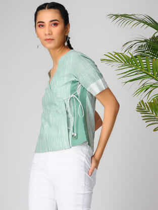 Green Cotton Khadi Top