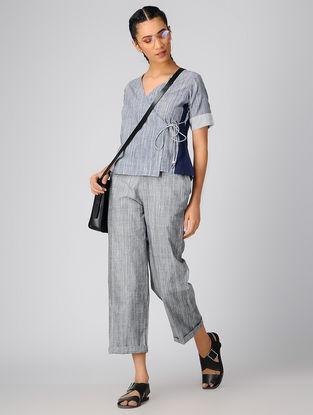 Grey Cotton Khadi Top