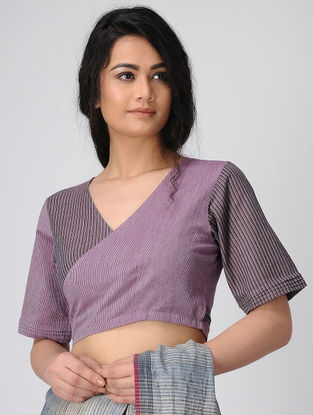 Purple Wrap Handloom Cotton Blouse