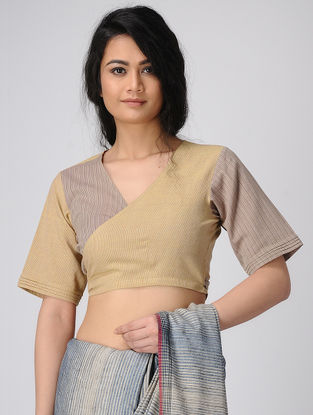 Mustard Wrap Handloom Cotton Blouse