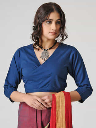 Blue Cotton Blouse by Jaypore