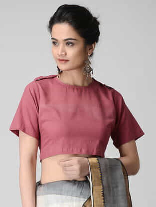 Pink Cotton Blouse by Jaypore