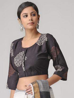 Black-Ivory Block-printed Blouse by Jaypore