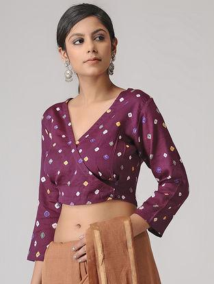 Pink Bandhani Cotton Blouse by Jaypore