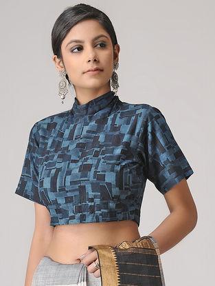 Indigo Ajrakh Cotton Blouse by Jaypore