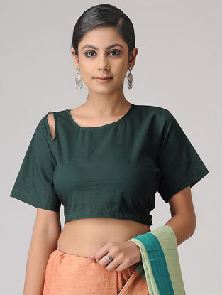 Green Cotton Blouse by Jaypore