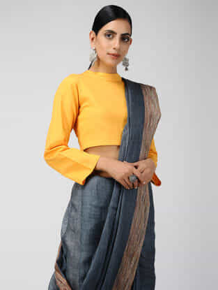 Yellow Cotton Blouse with Tie-up