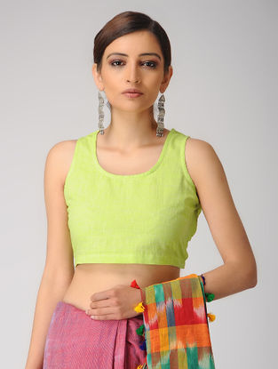 Green Handloom Cotton Blouse