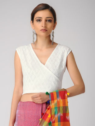 White Cutwork Cotton Blouse