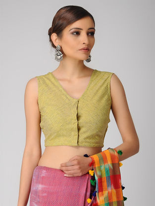 Yellow Handloom Cotton Blouse