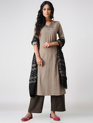 Beige Handloom Cotton Kurta by Jaypore