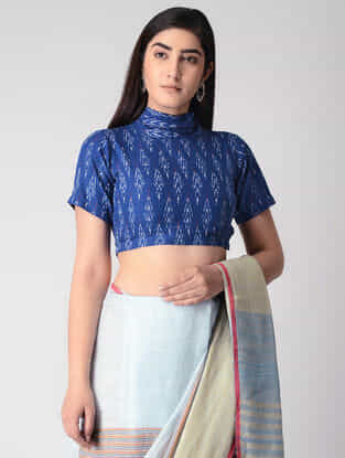 Blue Cotton Ikat Blouse