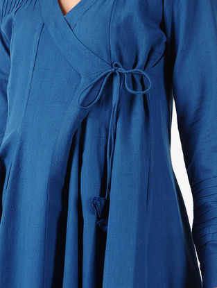 Blue Handloom Cotton Angrakha