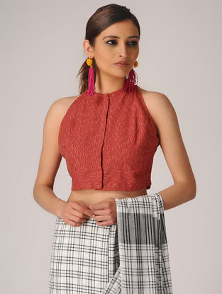Red Ikat Cotton Blouse