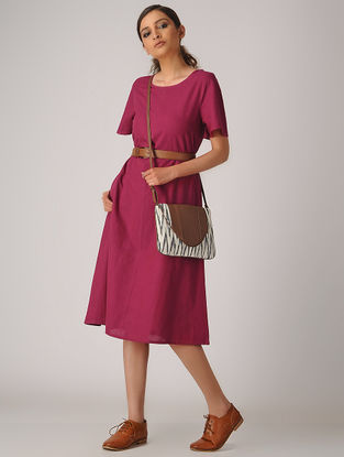 Pink Cotton Dress with Pockets