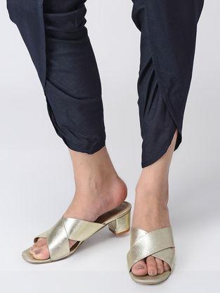 Blue Elasticated Waist Cotton Silk Dhoti Pants