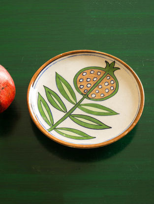 Fruit Punch Handmade Blue Pottery Ceramic Wall Plate-8in