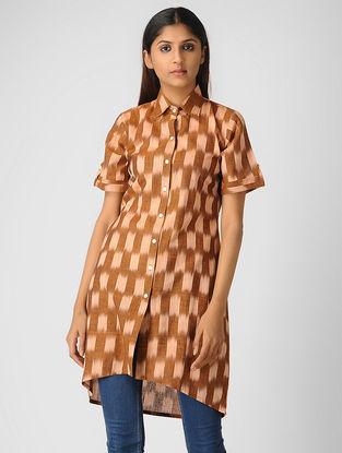 Brown Ikat Cotton Shirt