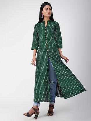 Green Ikat Cotton Kurta