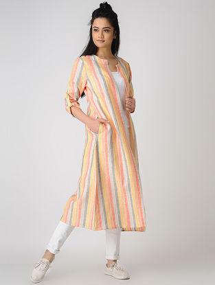 Orange Striped Cotton Jacket