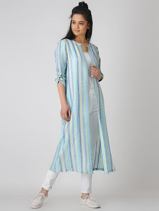 Blue Striped Linen Jacket