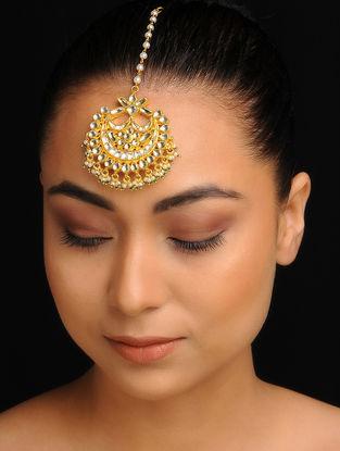 Gold Tone Kundan Inspired Jadau Mang Tikka