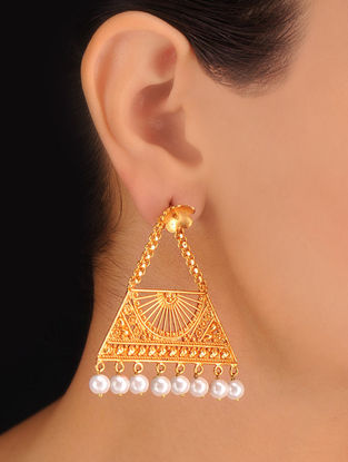 Pair of Bold Ivory Earrings
