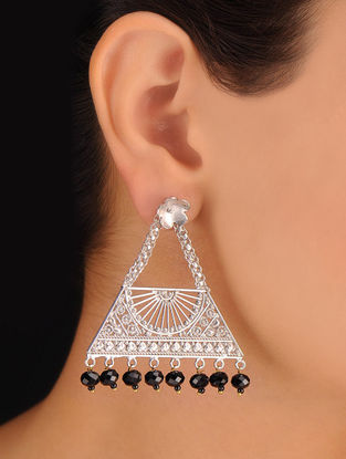 Pair of Bold Black Earrings
