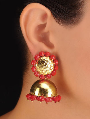 Pair of Golden Drop Jhumka
