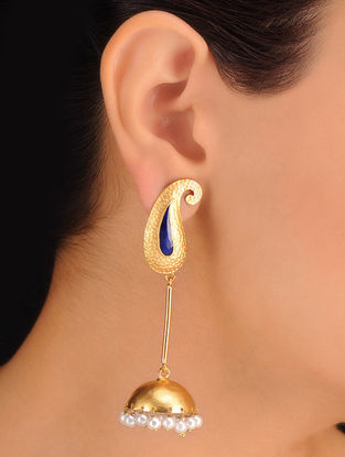 Pair of Paisley Golden Earrings