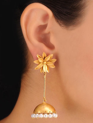 Pair of Floral Bold Earrings