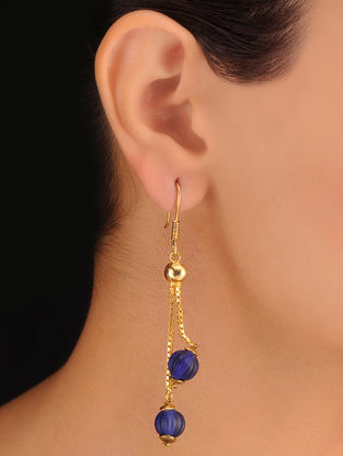Pair of Indigo Drop Earrings