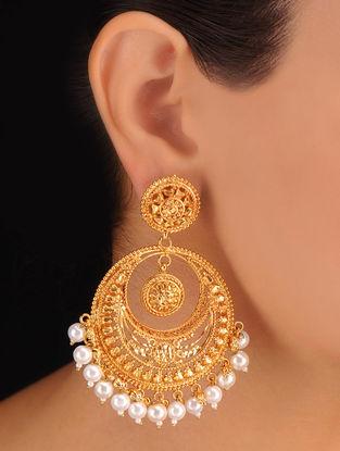 Pair of Chaand Balli Golden Earrings
