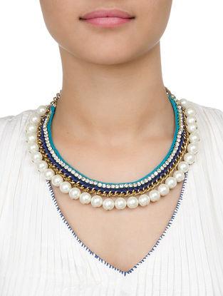 Multicolor Pearl Necklace by Mayabazaar