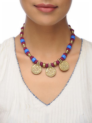 Maroon Thread Necklace