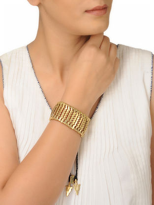 Black Thread Brass Bracelet