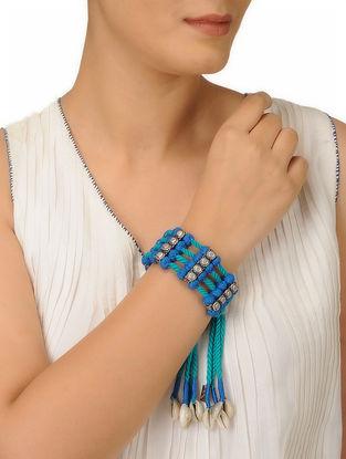 Blue Thread Bracelet with Sea Shells