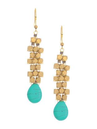 Turquoise Brass Earrings