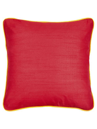 Red- Yellow Silk Cushion Cover 16in x 16in