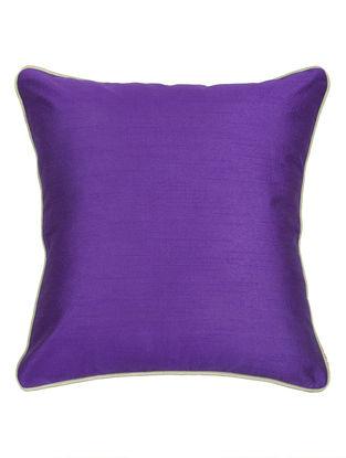 Purple-Grey Silk Cushion Cover 16.2in x 16.2in