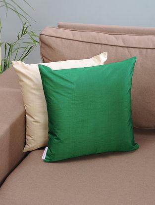 Green Silk Cushion Cover