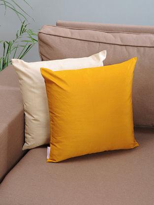Mustard Silk Cushion Cover