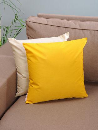 Yellow Silk Cushion Cover