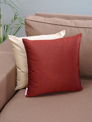 Maroon Silk Cushion Cover