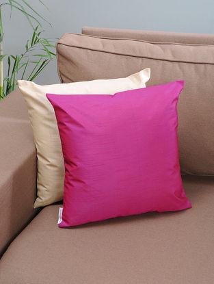 Pink Silk Cushion Cover